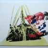 silk screen (four colours) on stencilled paper with spray (two colour)