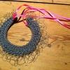 Merino Wool, Golden thread, Argentinian ribbon.