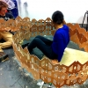 'Let's bee friends', a project for a research in urban bees in London, 2013, Bartlett Summer Foundation, Building Project Workshop (Three weeks).   Students: Structures: Adrienne Young and Cynthia Tian Inhabitable Space and Modular Construction: Duncan Lomax and Ivy Yuchen Cao Plant Habitat: Rumpa Paweenpongpat, Jessica Apps and Simon Glemser.